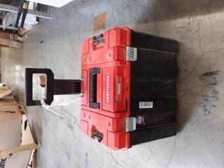 Craftsman Versastack System 20 in Red Plastic Wheels lockable Tool Box