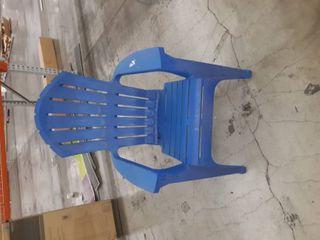 Blue Plastic Patio chair