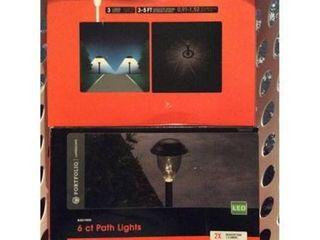 Portfolio 6 light Black 3 lumen lED Path light Kit