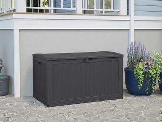 Suncast 134 Gallon Outdoor Deck Box Pool Backyard Storage