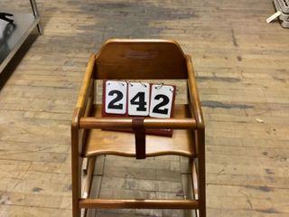 Walnut Finish High Chair