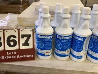 lot of 8 Bottles BluNaturale Cleaner