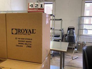 lot of 2 Swivel Bar Stools  In Box  Unassembled