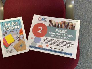 lot of 2 Emporia Arts Center Take Home Art Kits