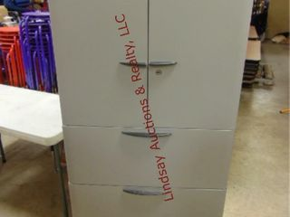 3 Drawer lateral file w  2 door upper storage for