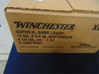 Case Winchester 12ga 2 3 4  shells  250rds