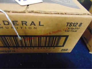 Case of Federal 12ga 2 3 4  shotshells  250rds