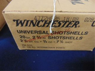 Case of Winchester 20ga 2 3 4  shells  200rds