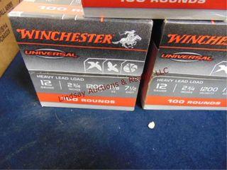 3 cases Winchester 12ga 2 3 4  shells  100rds ea