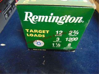 1 case Remington 12ga 2 3 4  shells 100rds