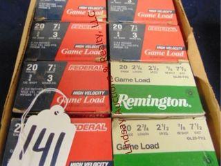 10bxs   Remingto  Federal  20ga 2 3 4  shells