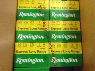 9bxs of Remington 20ga 2 3 4  shells  225rds