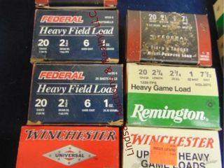 7bxs  Federal  Remington  Winchester  20ga