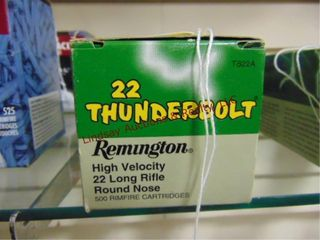 Bx of Remington  22lR Thunderbolt  500 rds