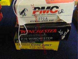 3bxs  Remington  Winchester  PMC  270 win  60rds