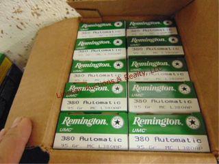 Case of Remington 380 auto  500rds total