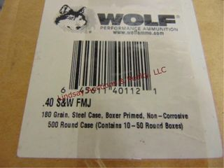 Case of Wolf 40S W  500rds total