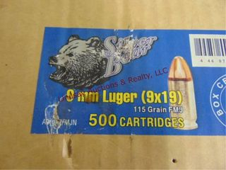 Case of Silver Bear 9mm luger  9x19   500rds