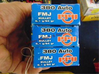 3bxs PPU 380 auto  150rds