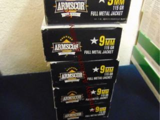 5bxs Armscor 9mm  250rds