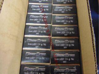 Case of Blazer Brass 9mm lUger  1000rds