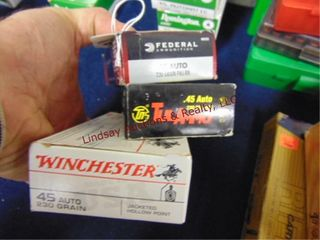 3bxs  Federal WInchester Tulammo  45auto  150rds