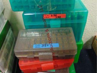 7 plastic ammo bxs w  243  270  380  357 mag