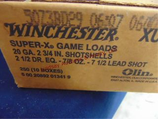 Case of Winchester 20ga 2 3 4  shells  250rds