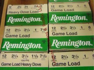 Case of Remington 12ga 2 3 4  shells  175rds