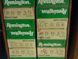 Case of Remington 20ga 2 3 4  shells  250rds