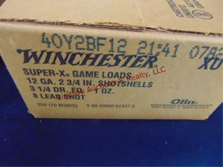 Case of Winchester 12ga 2 3 4  shells  250rd
