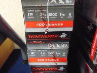 3bxs Winchester 12ga 2 3 4  shells  300rds
