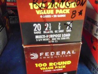 Bx of Federal 20ga 2 1 2  shells  100rds