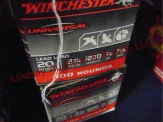 2bxs Winchester 20ga 2 3 4  shells  200rds