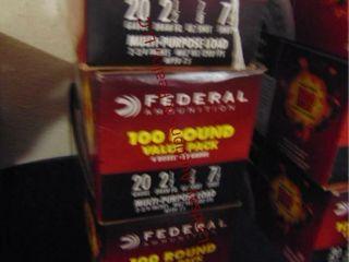 3bxs Federal 20ga 2 1 2  shells  300rds