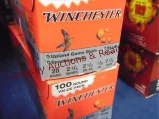 2 bxs Winchester 20ga 2 3 4  shells  200rds
