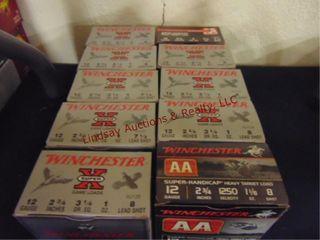 10bxs winchester 12ga 2 3 4  shells  250rds