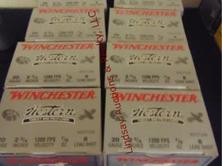 10bxs Winchester 20ga 2 3 4  shells  250rds