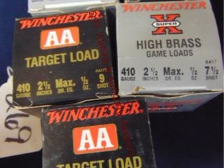 5bxs winchester 410ga 2 1 2  shells  125rds