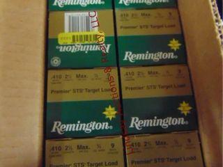 Case of remington 410ga 2 1 2  shells  250rds
