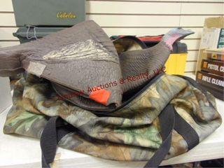 Camo bag w  turkey decoy