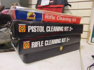 4 gun cleaning kits  may be partial