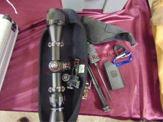 BSA air rifle 2 7x32AO scope   other misc