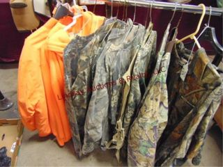 Rack of Hunting shirts  jackets  RACK NOT INClUDED