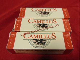 3 NIP Camillus knives