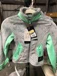 Champion Girls Fleece Zip Jacket Gray lime Size SMAll