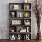 Furniture of America Niti Rustic Grey 10 shelf Open Bookcase Retail 309 49