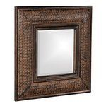Grant Antique Brown Wall Mirror