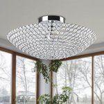 leila 3 light Chrome Bowl shaped Crystal Flush Mount Retail 114 99