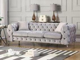 Best Master Furniture Tufted Velvet Upholstered Sofa  SOFA ONlY